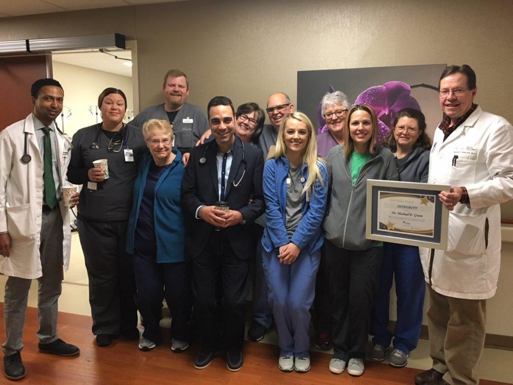 Dr  Michael Grant receives DaVita Dialysis Acute's Core